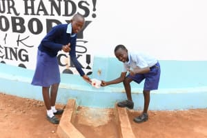 The Water Project: Mang'uu Primary School -  Thumbs Up