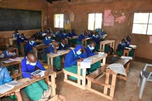 The Water Project: Migwani DEB Primary School Rain Tank -  Classroom