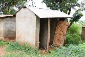 The Water Project: Migwani DEB Primary School Rain Tank -  Girls Latrines