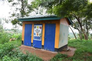The Water Project: Migwani DEB Primary School Rain Tank -  Improved Girls Latrines