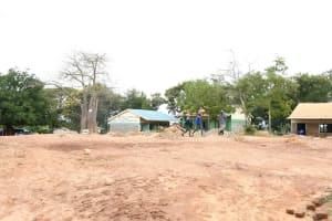 The Water Project: Migwani DEB Primary School Rain Tank -  School Compound