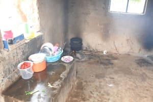 The Water Project: Migwani DEB Primary School Rain Tank -  School Kitchen