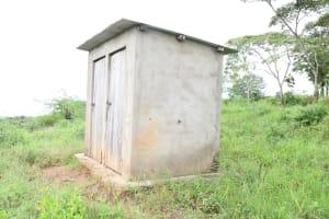 The Water Project: Migwani DEB Primary School Rain Tank -  Staff Latrines