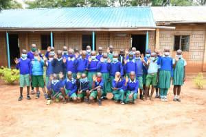 The Water Project: Migwani DEB Primary School Rain Tank -  Students