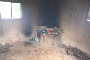 The Water Project: Migwani DEB Primary School Rain Tank -  Wood Burning Stove