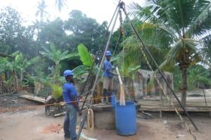 The Water Project: Kamasondo, Masinneh Village -  Bailing