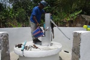 The Water Project: Kamasondo, Masinneh Village -  Chlorination
