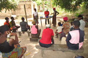 The Water Project: Kamasondo, Masinneh Village -  Handwashing Demonstration
