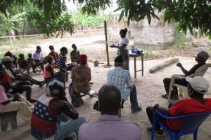 The Water Project: Kamasondo, Masinneh Village -  People Listen During The Training