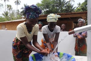 The Water Project: Kamasondo, Masinneh Village -  Splashing In Celebration