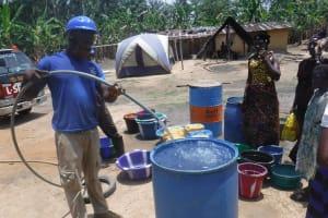 The Water Project: Kamasondo, Masinneh Village -  Yield Test