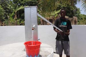 The Water Project: Kamasondo, Masinneh Village -  Boy Collecting Water