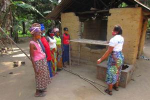 The Water Project: Lokomasama, Bompa Morie Village -  Dish Rack Lesson