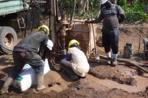The Water Project: Lokomasama, Bompa Morie Village -  Drilling
