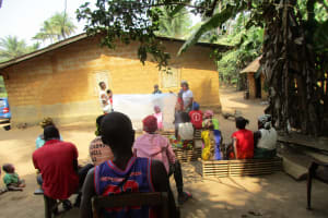The Water Project: Lokomasama, Bompa Morie Village -  Mosquito Bednet Demonstration