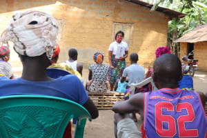 The Water Project: Lokomasama, Bompa Morie Village -  People Listen During The Training