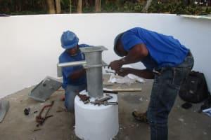 The Water Project: Lokomasama, Bompa Morie Village -  Pump Installation