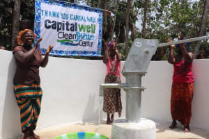 The Water Project: Lokomasama, Bompa Morie Village -  Singing And Pumping The Well