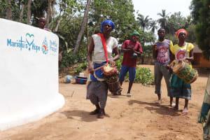 The Water Project: Lokomasama, Bompa Morie Village -  Singing At The Dedication