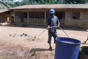 The Water Project: Lokomasama, Bompa Morie Village -  Yield Test