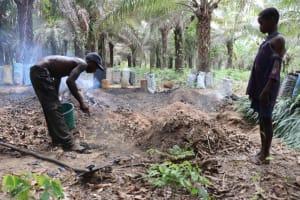The Water Project: Kamasondo, Bross 1 -  Charcoal Processing