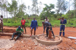 The Water Project: Marongo-Kahembe Community -  Destroying The Old Well Apron