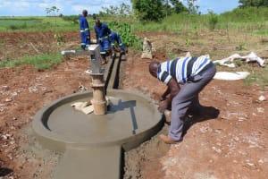 The Water Project: Rwenziramire Community -  Concrete Apron Work