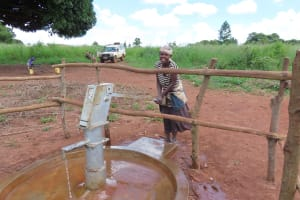 The Water Project: Rwenziramire Community -  Pumping The Well