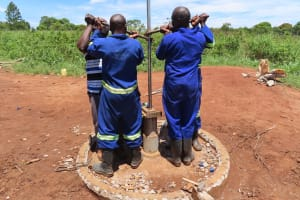 The Water Project: Rwenziramire Community -  Rehabilitating The Well