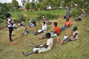 The Water Project: Indulusia Community, Wanyama Spring -  The Facilitator Leading The Session