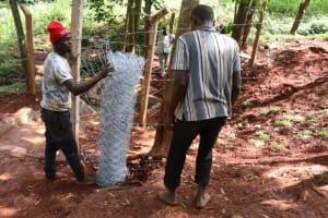 The Water Project: Shikoye Community, Kwa Witinga Spring -  Fencing Chainlink