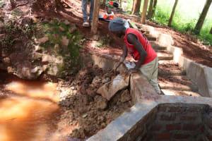 The Water Project: Shikoye Community, Kwa Witinga Spring -  Backfilling Clayworks