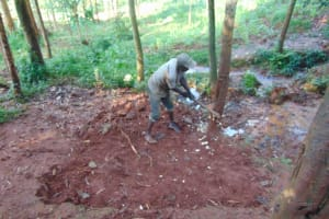 The Water Project: Shikoye Community, Kwa Witinga Spring -  Site Clearing
