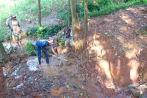 The Water Project: Shikoye Community, Kwa Witinga Spring -  Excavation