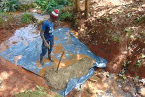 The Water Project: Shikoye Community, Kwa Witinga Spring -  Concrete