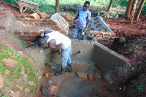 The Water Project: Shikoye Community, Kwa Witinga Spring -  Inside Plastering