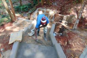 The Water Project: Shikoye Community, Kwa Witinga Spring -  Stairway Construction