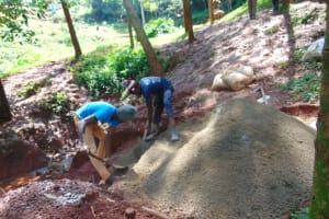 The Water Project: Shikoye Community, Kwa Witinga Spring -  Community Members Participating