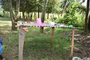 The Water Project: Ingavira Primary School -  Dishrack Outside The Kitchen