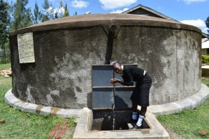 The Water Project: St. Gerald Mayuge Secondary School -  Irine Splashing Water