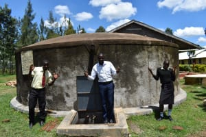The Water Project: St. Gerald Mayuge Secondary School -  Students And Teacher At Water Point