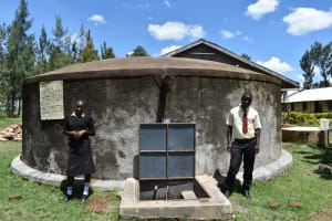 The Water Project: St. Gerald Mayuge Secondary School -  Students At The Water Point