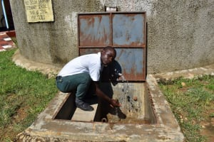 The Water Project: Sawawa Secondary School -  Student Splashing Water
