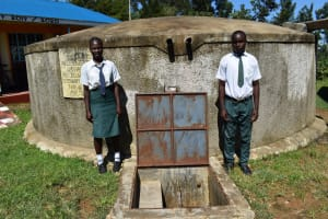 The Water Project: Sawawa Secondary School -  Students At Water Point