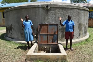 The Water Project: St. Michael Mukongolo Primary School -  At The Water Point