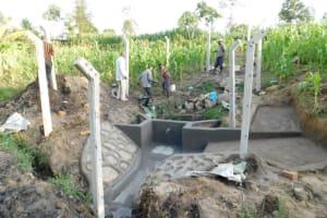 The Water Project: Shianda Community, Akhonya Spring -  Protection Of Akhonya Spring