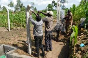 The Water Project: Shianda Community, Akhonya Spring -  Fencing