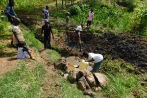 The Water Project: Shianda Community, Akhonya Spring -  Excavation Work