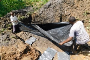 The Water Project: Shianda Community, Akhonya Spring -  Foundation Plastic Sheet