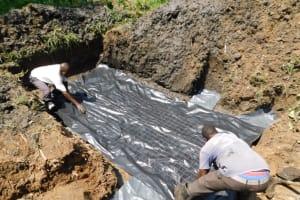 The Water Project: Shianda Community, Akhonya Spring -  Foundation Chicken Wire